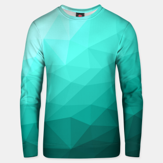 Thumbnail image of Aqua Turquoise Gradient Geometric Mesh Pattern Unisex sweater, Live Heroes