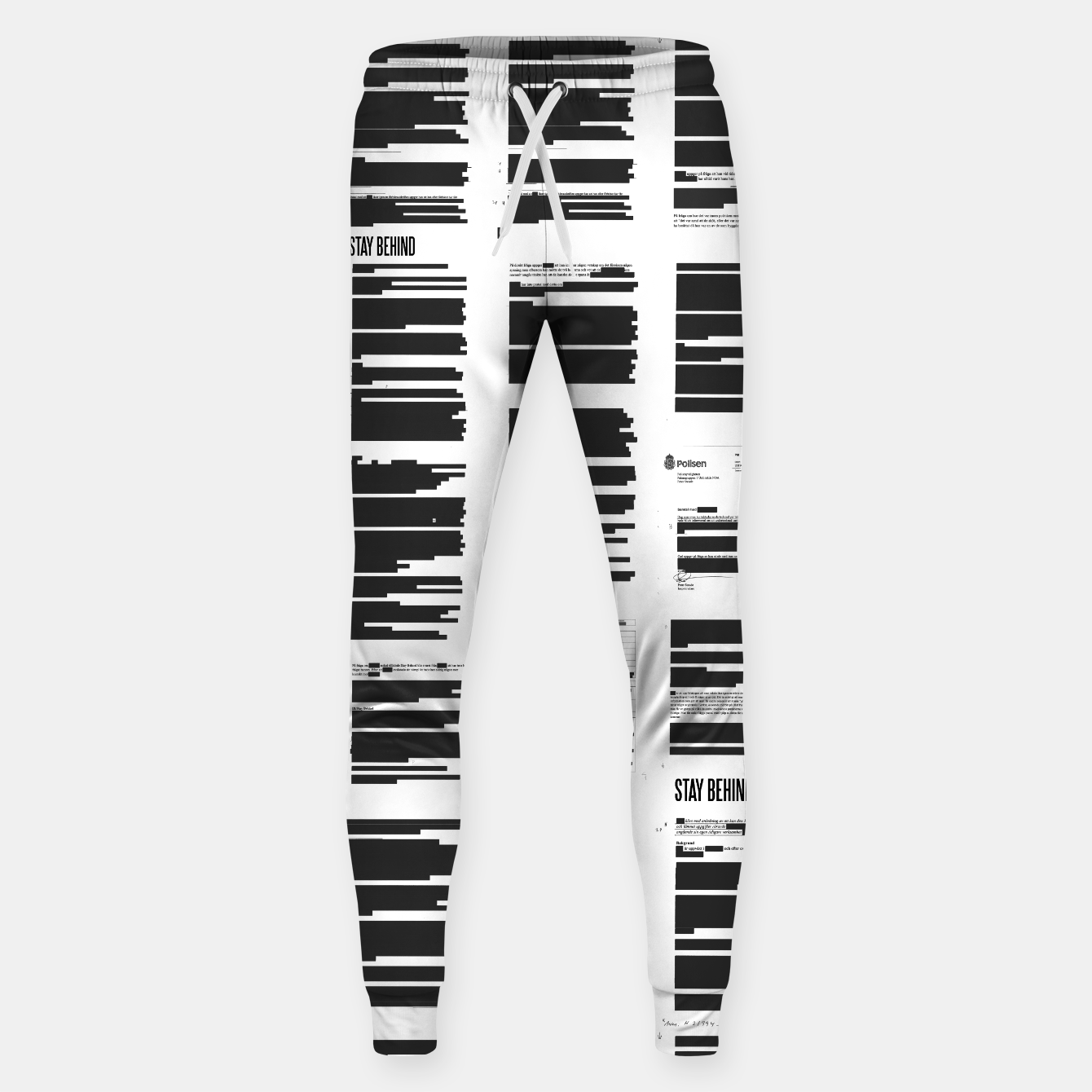 Image of Stay Behind Maskning - Sweatpants - Live Heroes
