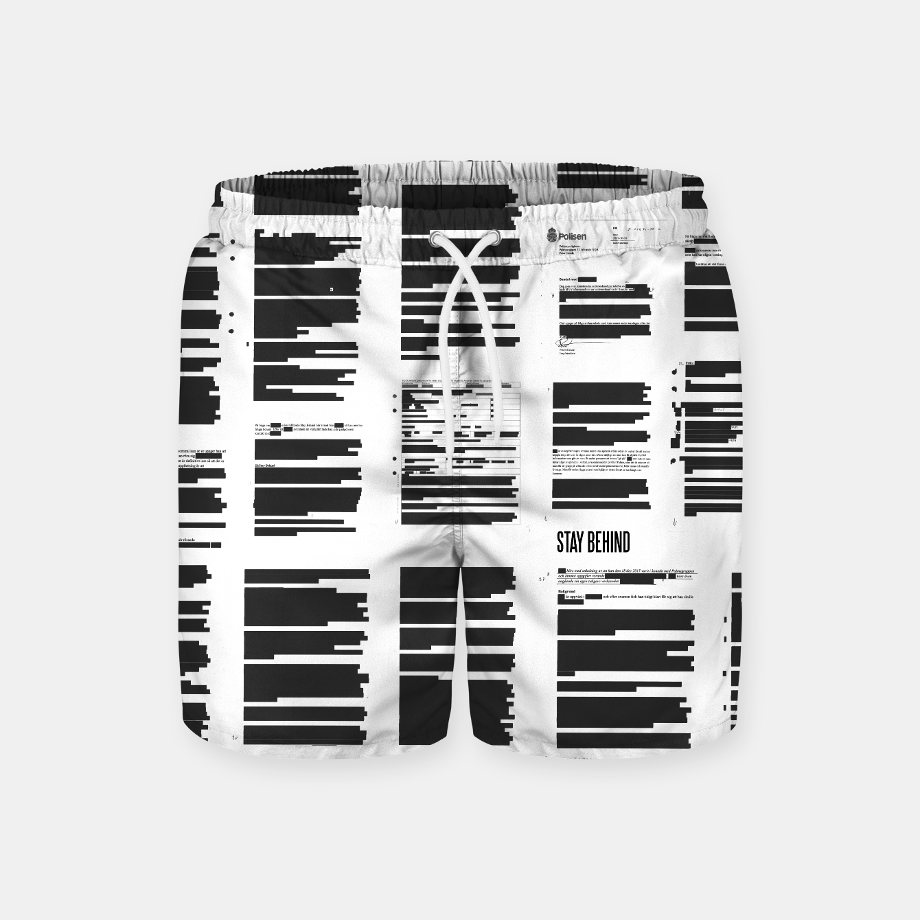 Image of Stay Behind Maskning - Swim Shorts - Live Heroes