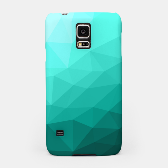 Thumbnail image of Aqua Turquoise Gradient Geometric Mesh Pattern Samsung Case, Live Heroes