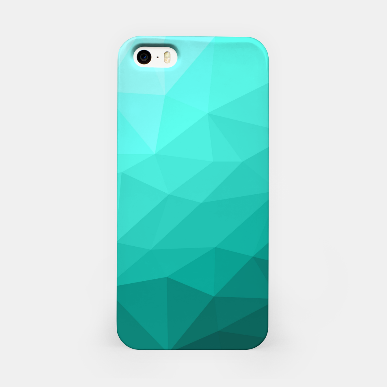 Image of Aqua Turquoise Gradient Geometric Mesh Pattern iPhone Case - Live Heroes