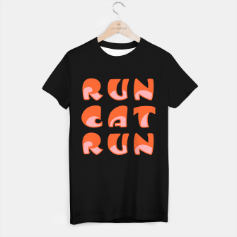 Thumbnail image of RunCatRun Hypno font in halves  T-shirt regular, Live Heroes