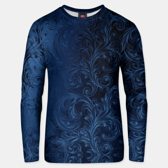 Thumbnail image of Blue Faux Velvet Swirls Unisex sweater, Live Heroes