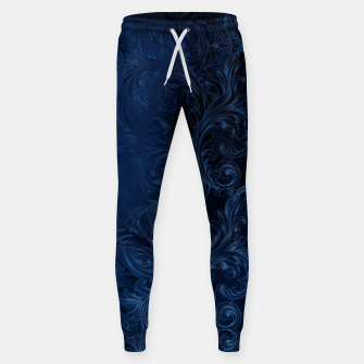 Thumbnail image of Blue Faux Velvet Swirls Sweatpants, Live Heroes