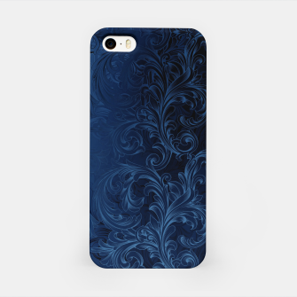 Thumbnail image of Blue Faux Velvet Swirls iPhone Case, Live Heroes