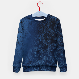 Thumbnail image of Blue Faux Velvet Swirls Kid's sweater, Live Heroes
