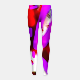 Thumbnail image of Redroselifesigns Girl's leggings, Live Heroes