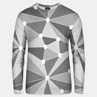 Miniature de image de Abstract geometric pattern - gray and white. Unisex sweater, Live Heroes