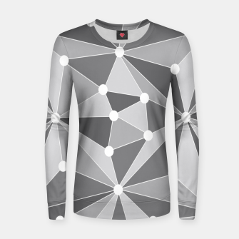 Miniaturka Abstract geometric pattern - gray and white. Women sweater, Live Heroes