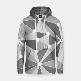 Miniature de image de Abstract geometric pattern - gray and white. Hoodie, Live Heroes