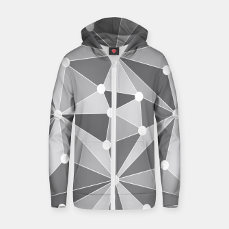Miniature de image de Abstract geometric pattern - gray and white. Zip up hoodie, Live Heroes