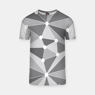 Miniature de image de Abstract geometric pattern - gray and white. T-shirt, Live Heroes