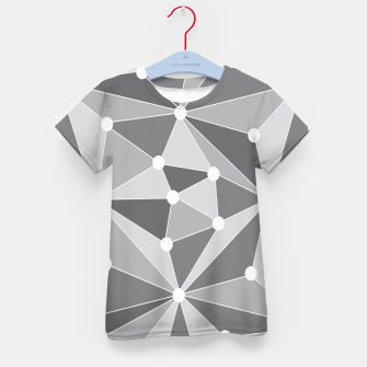 Miniature de image de Abstract geometric pattern - gray and white. Kid's t-shirt, Live Heroes