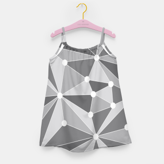 Miniatur Abstract geometric pattern - gray and white. Girl's dress, Live Heroes