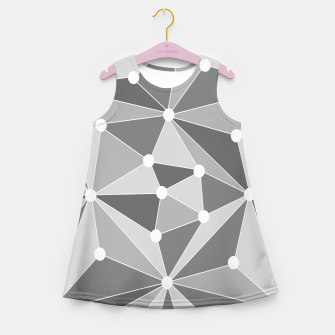 Miniaturka Abstract geometric pattern - gray and white. Girl's summer dress, Live Heroes