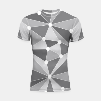 Imagen en miniatura de Abstract geometric pattern - gray and white. Shortsleeve rashguard, Live Heroes