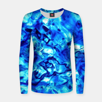 Miniaturka Blue Water Abstract Women sweater, Live Heroes
