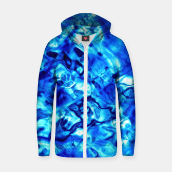 Miniature de image de Blue Water Abstract Zip up hoodie, Live Heroes