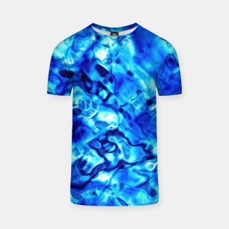 Thumbnail image of Blue Water Abstract T-shirt, Live Heroes