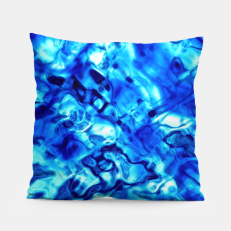 Thumbnail image of Blue Water Abstract Pillow, Live Heroes