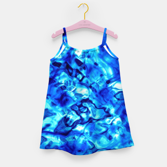Miniatur Blue Water Abstract Girl's dress, Live Heroes
