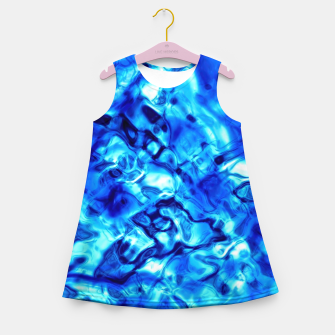 Thumbnail image of Blue Water Abstract Girl's summer dress, Live Heroes