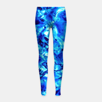 Thumbnail image of Blue Water Abstract Girl's leggings, Live Heroes