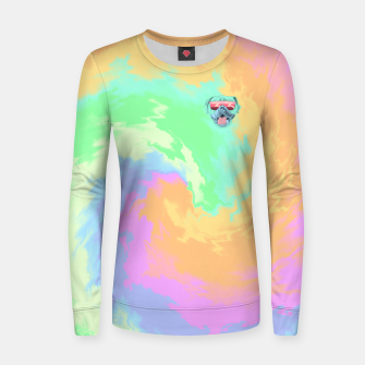 Miniatur Psychedelic Cool Dog Women sweater, Live Heroes