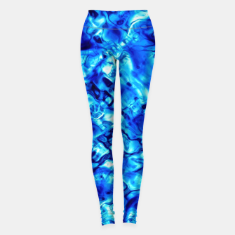 Thumbnail image of Blue Water Abstract Leggings, Live Heroes