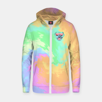 Miniature de image de Psychedelic Cool Dog Zip up hoodie, Live Heroes