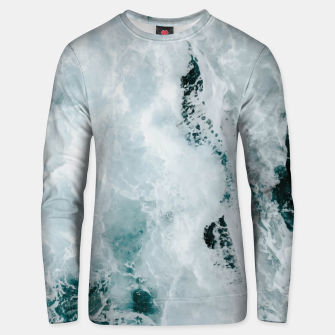 Thumbnail image of ocean waves Unisex sweater, Live Heroes