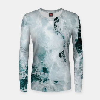 Miniaturka ocean waves Women sweater, Live Heroes