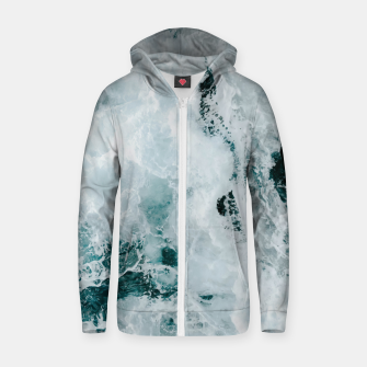 Miniature de image de ocean waves Zip up hoodie, Live Heroes