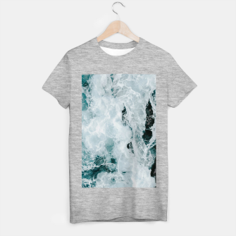 Miniatur ocean waves T-shirt regular, Live Heroes