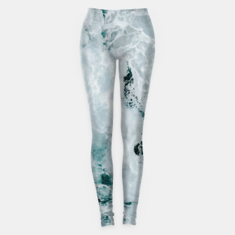 Miniature de image de ocean waves Leggings, Live Heroes