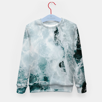 Miniaturka ocean waves Kid's sweater, Live Heroes