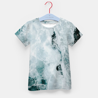 Miniaturka ocean waves Kid's t-shirt, Live Heroes