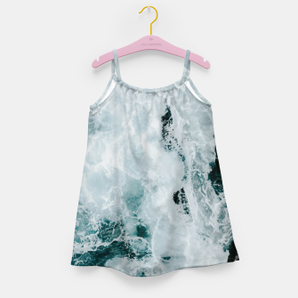 Miniaturka ocean waves Girl's dress, Live Heroes
