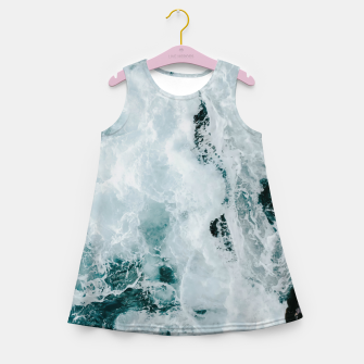 Miniaturka ocean waves Girl's summer dress, Live Heroes