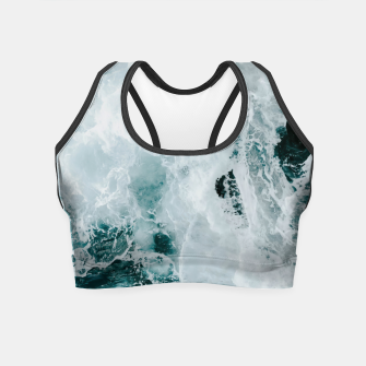 Miniaturka ocean waves Crop Top, Live Heroes