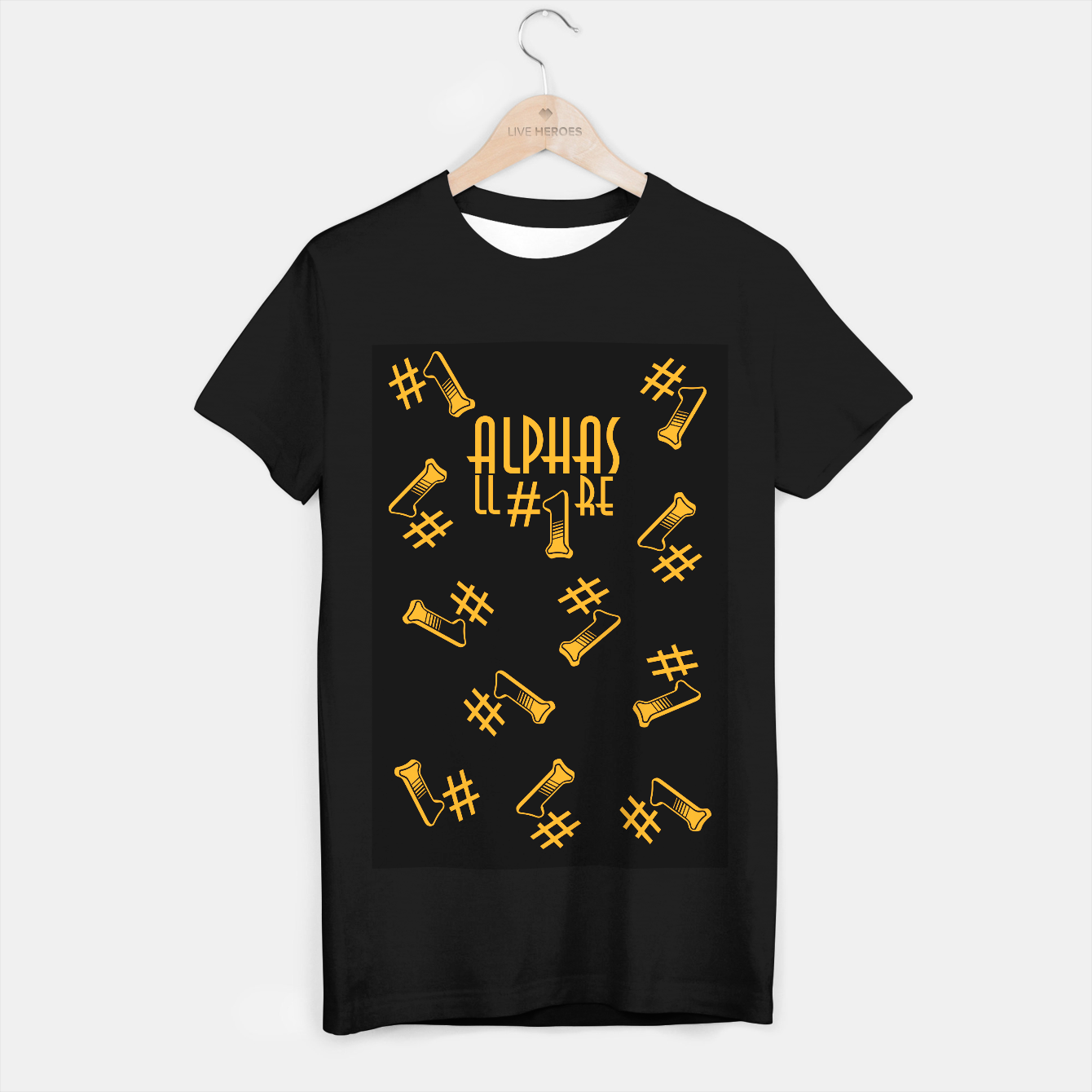 Zdjęcie All Alphas Are #1 T-shirt regular - Live Heroes