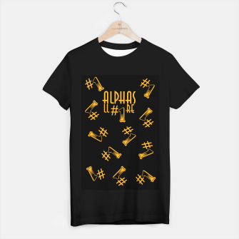 Miniatur All Alphas Are #1 T-shirt regular, Live Heroes