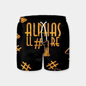 Thumbnail image of All Alphas Are #1 Swim Shorts, Live Heroes