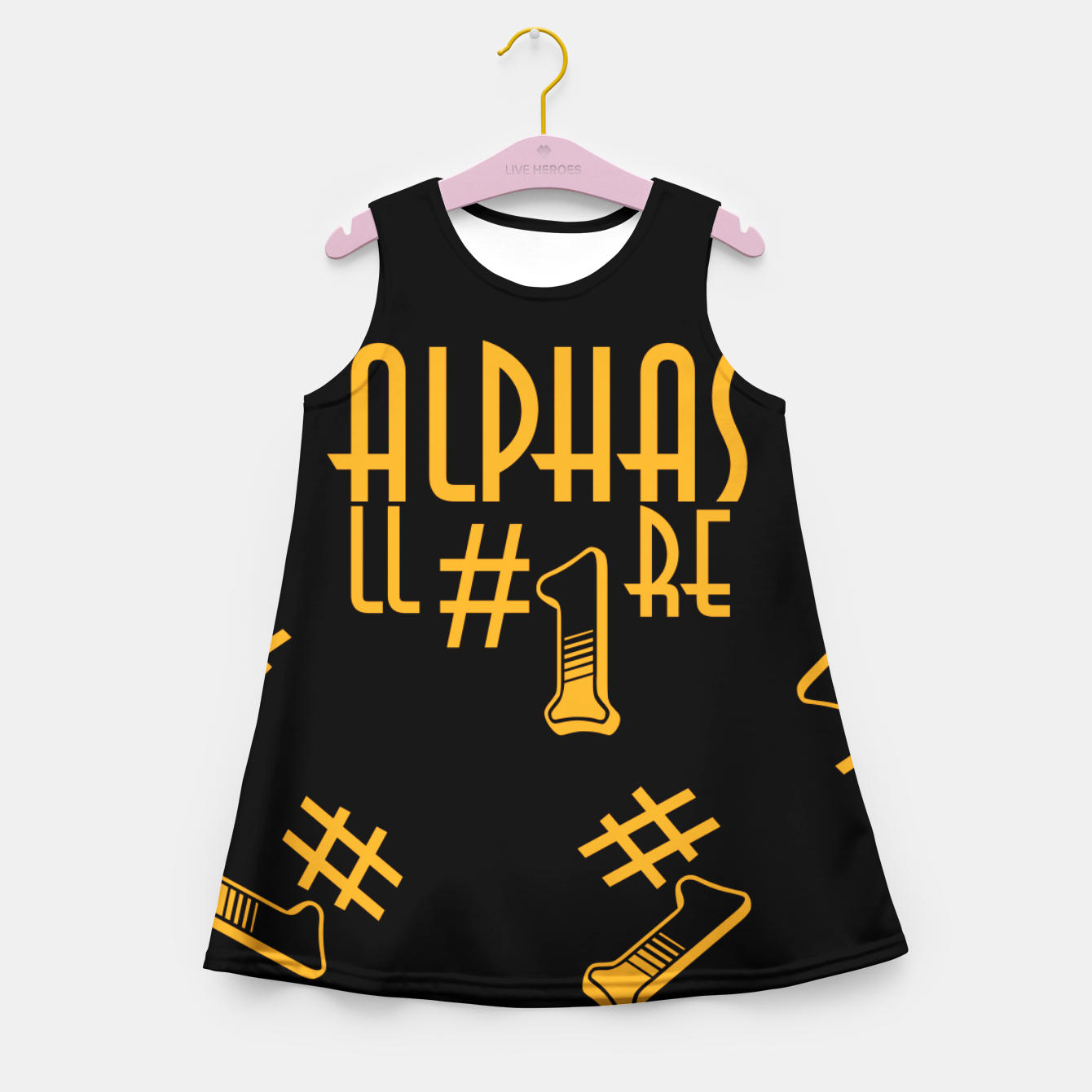 Zdjęcie All Alphas Are #1 Girl's summer dress - Live Heroes