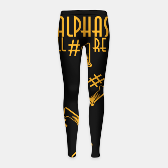 Thumbnail image of All Alphas Are #1 Girl's leggings, Live Heroes