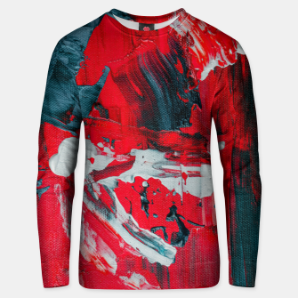 Thumbnail image of paint splatter Unisex sweater, Live Heroes