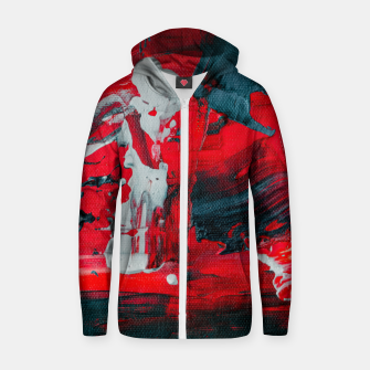 Miniature de image de paint splatter Zip up hoodie, Live Heroes