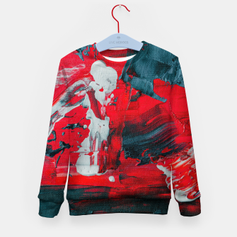 Miniatur paint splatter Kid's sweater, Live Heroes