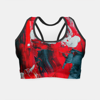 Thumbnail image of paint splatter Crop Top, Live Heroes