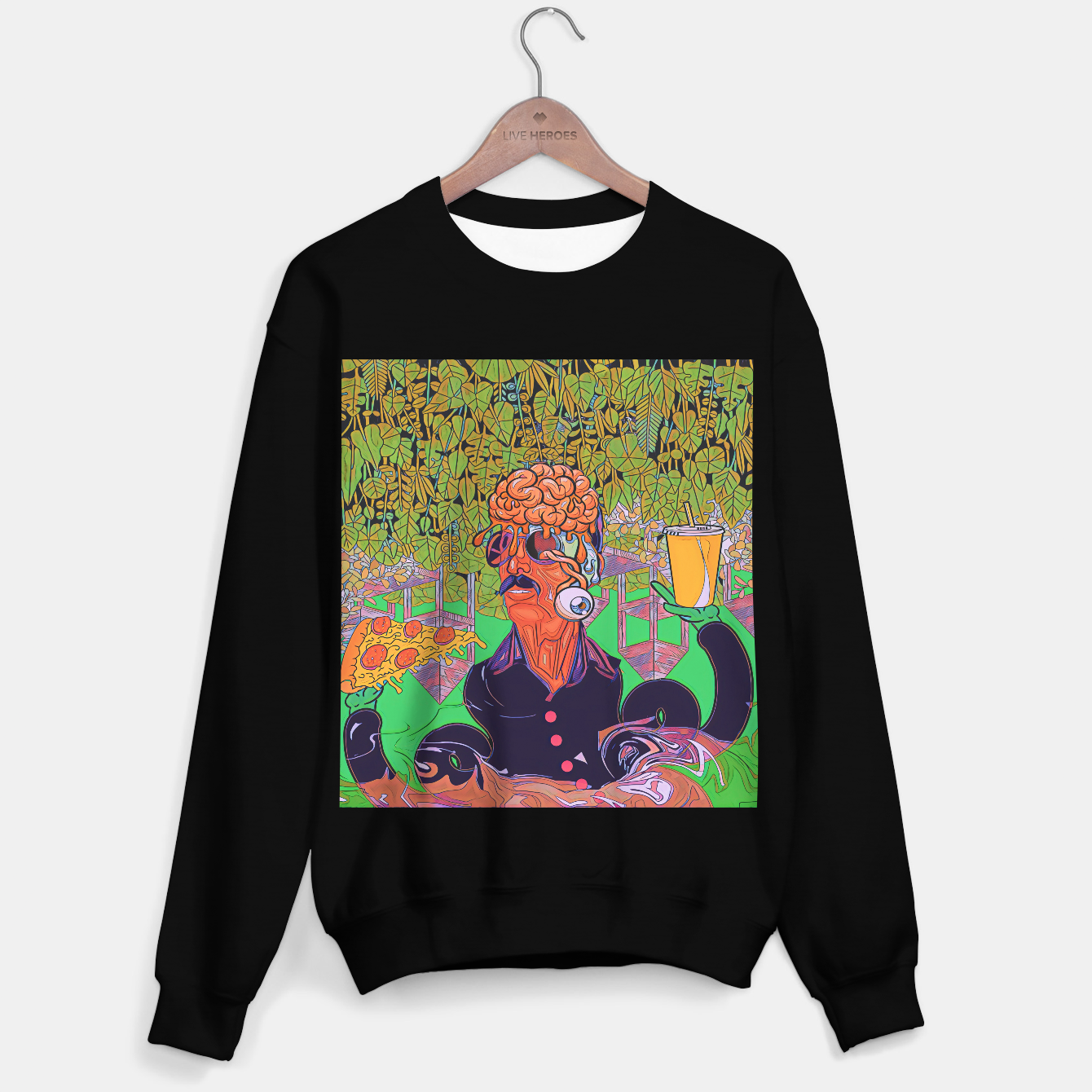 Image of Pizza or Soda Sweater regular - Live Heroes